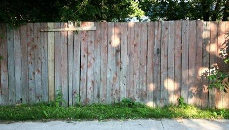 Stockade panels are a standard six feet high.