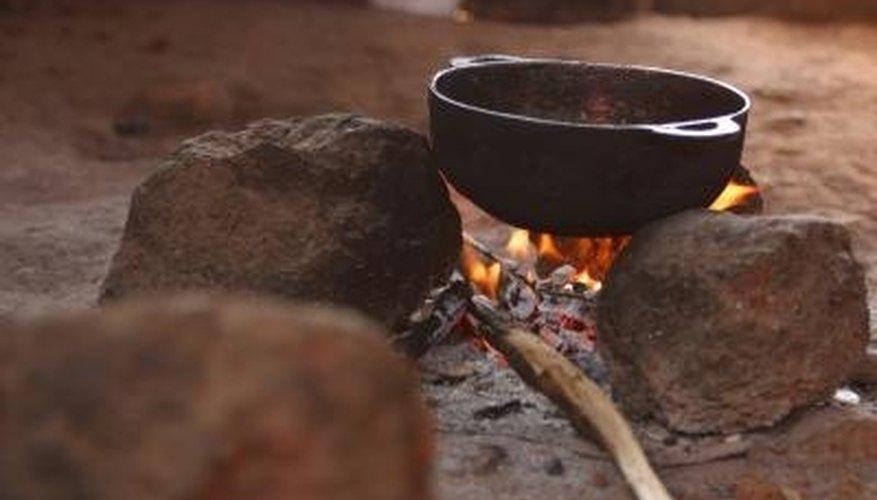 Properly seasoned cast iron pans resist sticking.