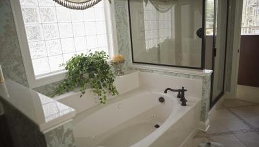 Replace the aerator on the bathtub faucet to keep the water flowing.