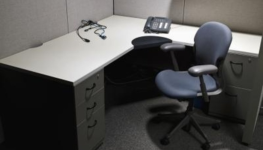 Ikea kitchen cabinets can be used to make an office desk.