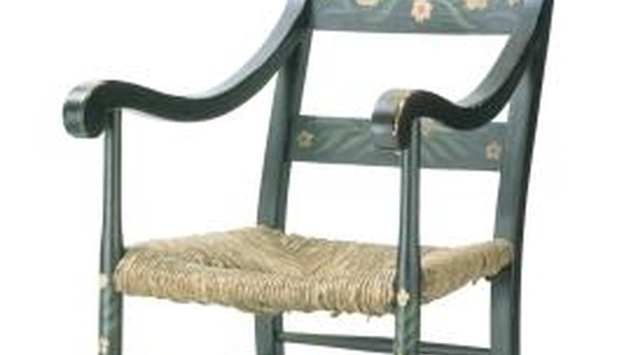 Rocking chairs offer comfortable seating.