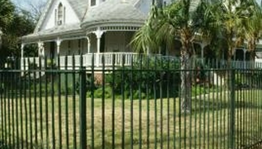 Plan your right angle before installing a fence.