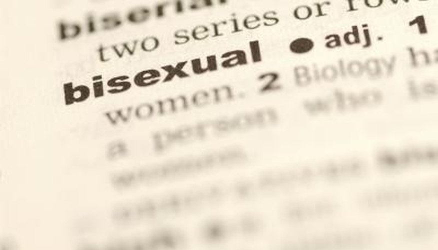 Signs of bisexual men what words