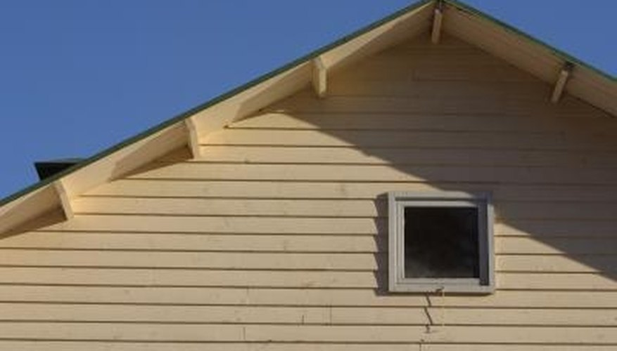 Eaves are built along the roof line to protect the building from weather damage.