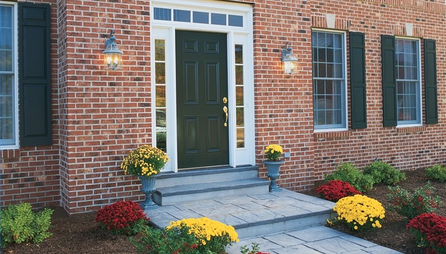 Your front door should be bold, and the path leading to it should be a clear focal point to the front of the house.