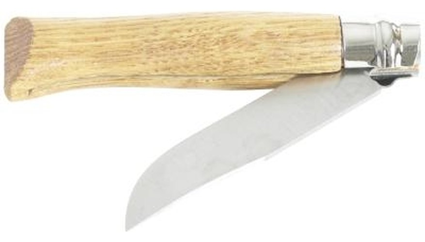Use the paper-cut test to judge the edge on a sharpened knife.