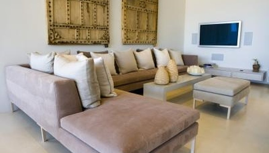 Sectional sofas create seating for a large number of people.