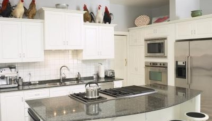 Granite countertops enhance a kitchen's appearance.
