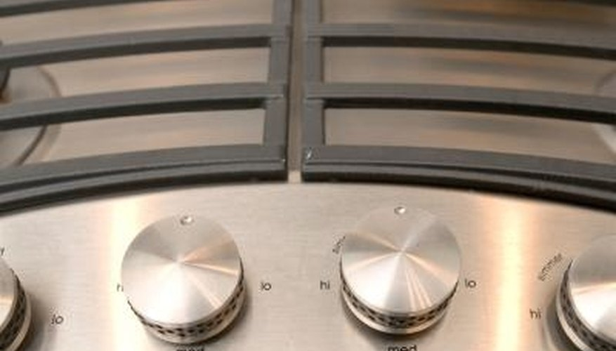 Use the control knobs on the propane appliance to adjust the burner.