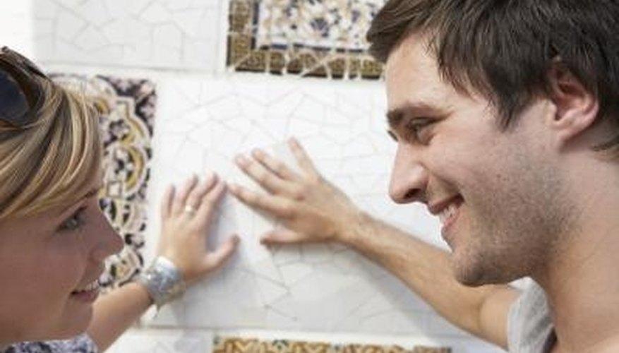 Paintable wallpaper is an inexpensive alternative to backsplash tile.
