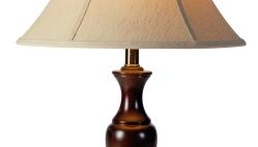 Finials can accent an otherwise plain lamp.