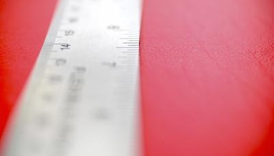 Rulers are a good visual measuring device.