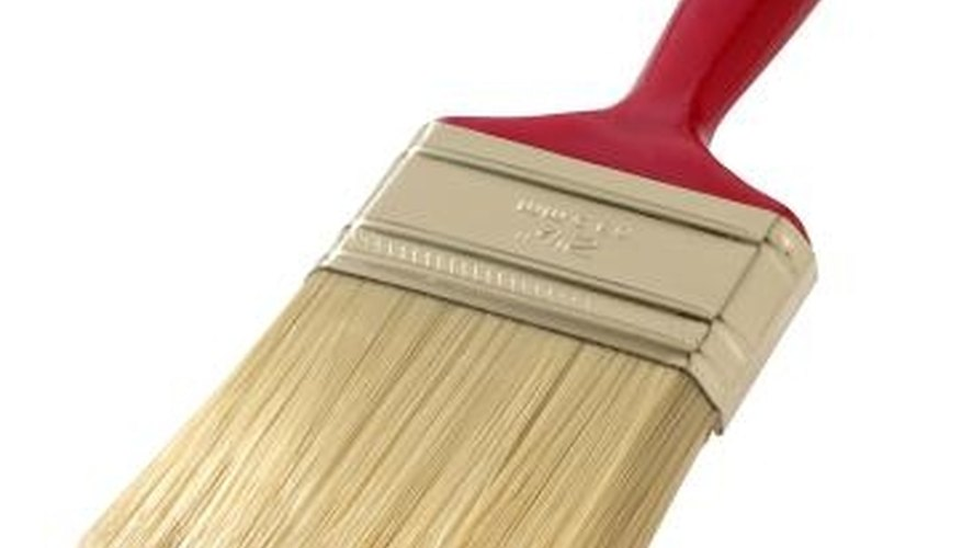 Apply exterior stain with a high-quality bristle brush.