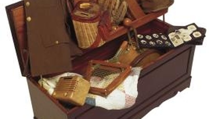 Take time to package items before placing them within a cedar chest.