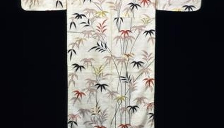 Highlight the artistic qualities of your kimono by displaying it on a large wall.