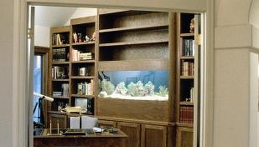 A bar built around an aquarium is bound to be a talking point.