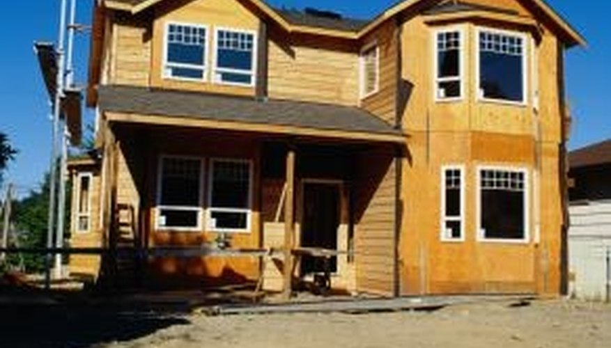 The wood used on the outside of a house will generally be either furniture board or plywood.