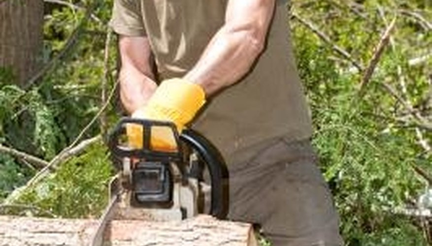 Chainsaws are also handy for cutting larger logs down into smaller ones.