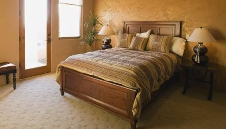 There are several different components of a bed.