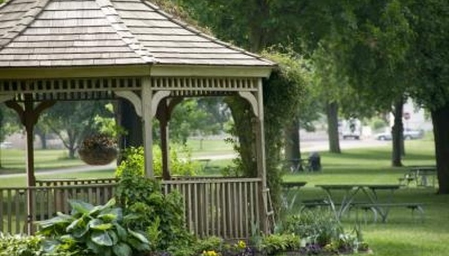 A charming gazebo can change the whole look of a yard.