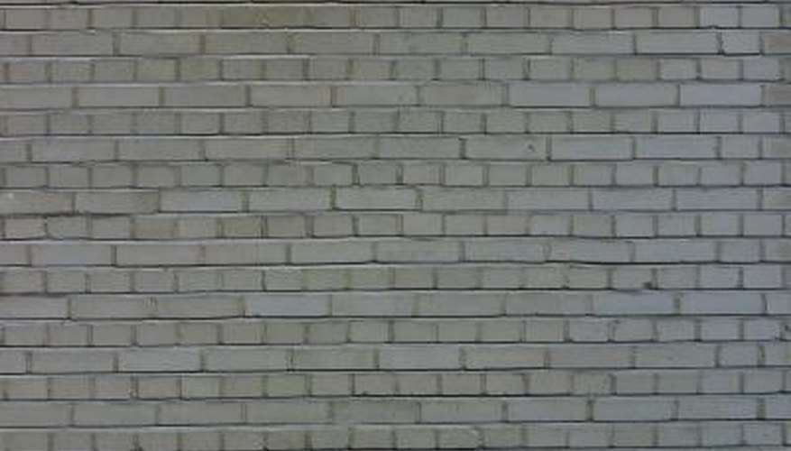 This is one style of brick wall for a house.