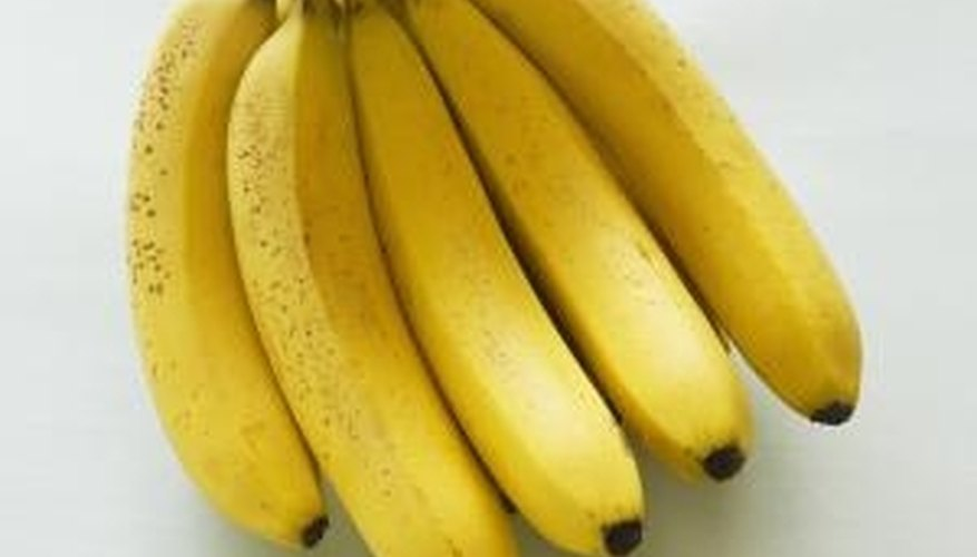 Bananas go through several stages of ripening and color changes.