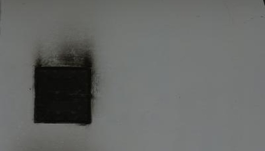 Soot sponges are used dry before washing the surface.