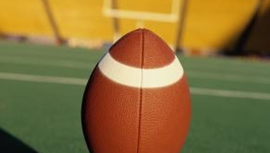 Artificial turf is often used on football fields because of its durability.