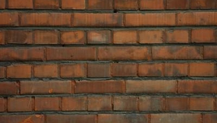 The joints of a brick wall may crack over time.