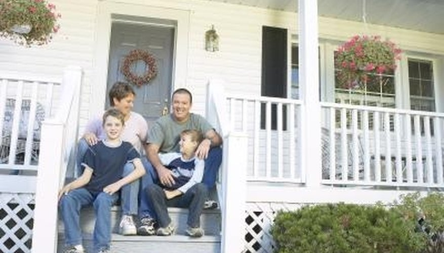 A new front porch can add visual appeal to a standard ranch home.