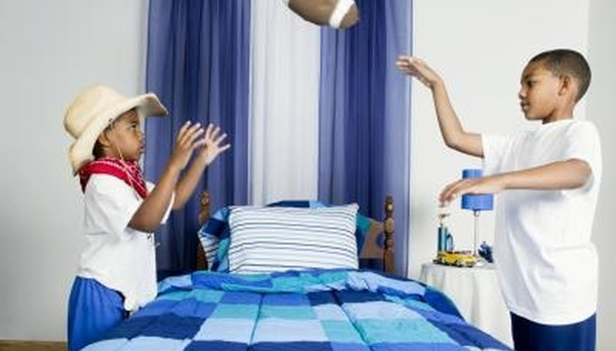 Many 5-year-old boys enjoy having a sports-themed bedroom.