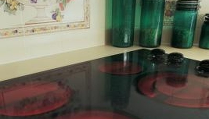 Regular cleaning keeps glass stove tops sanitary.