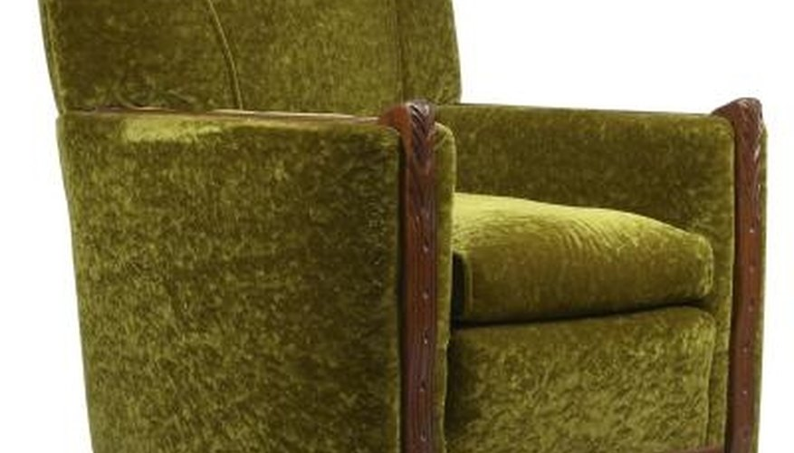 Sleeper chairs look very similar to armchairs when folded away.