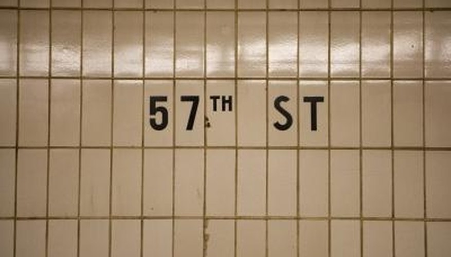 Subway tile highlighting a street stop.