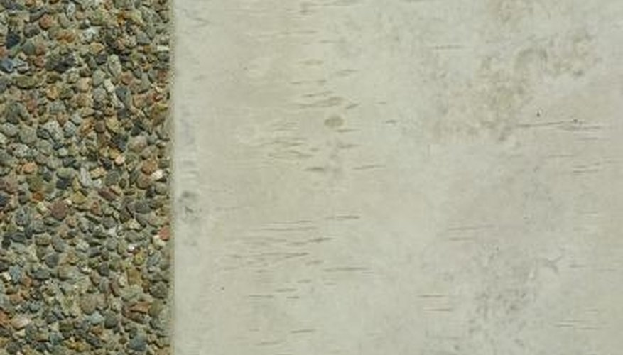 Cement renders are composed of cement, lime and sand.