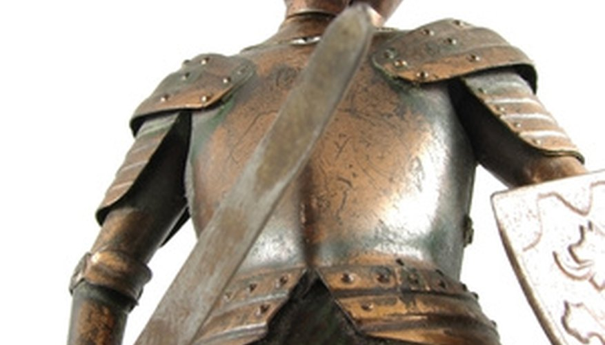 Knight armor makes a person look honorable and courageous.