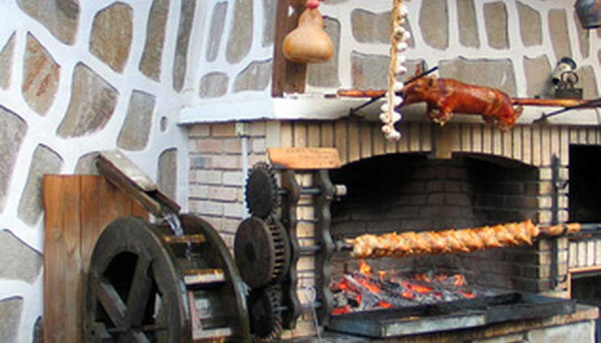 Refractory concrete is often used for brick pizza ovens.