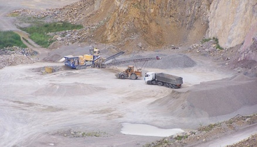 Mining tantalum is similar to mining metals such as gold.