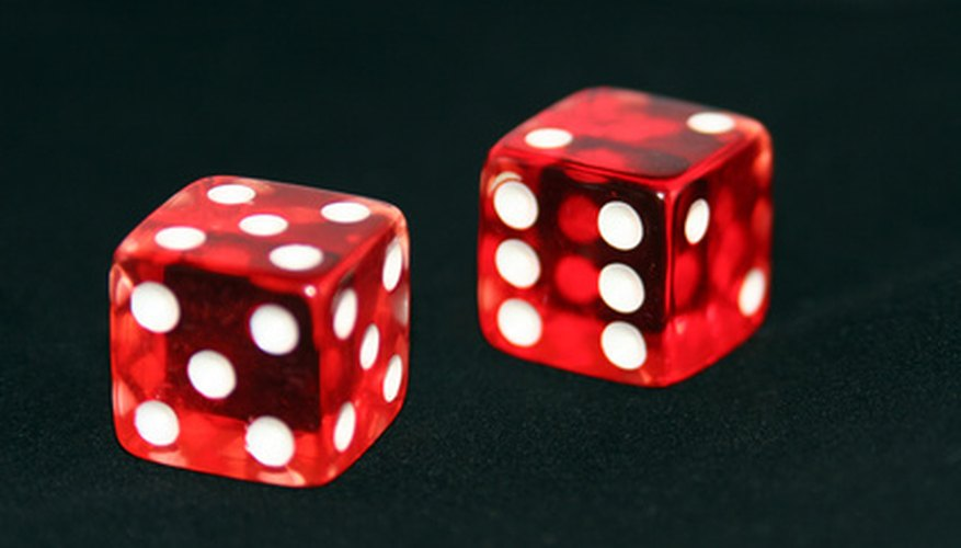 Numbers on opposite sides of die add up to seven.