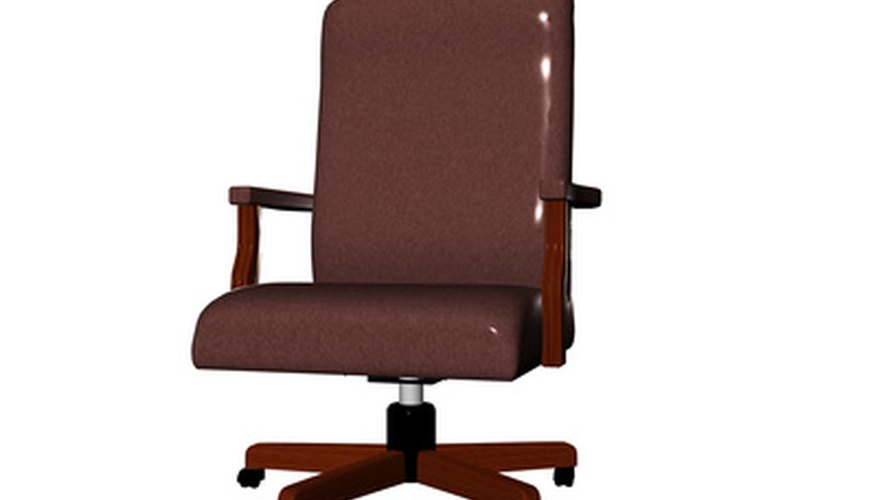Use an office or other chair with a squared back and base.