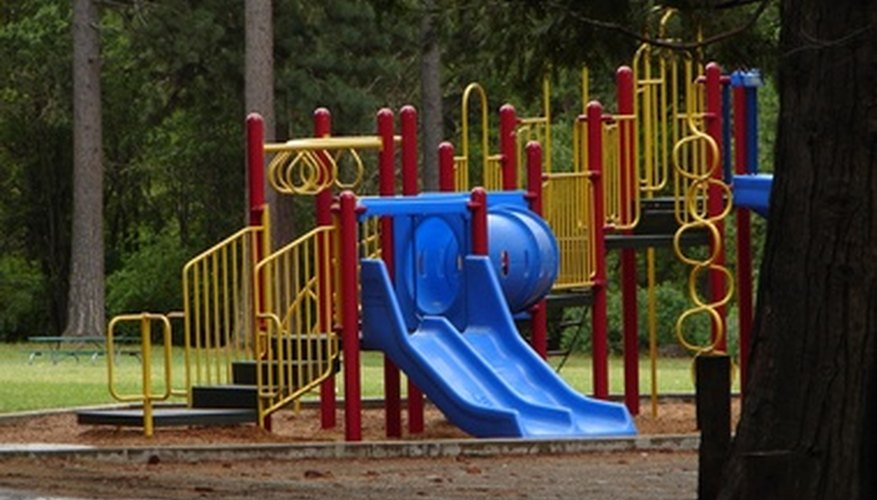 Smooth ground underneath a playground prevents injuries.