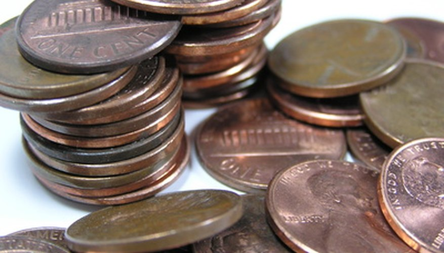 Pennies can be used to test water tension and displacement properties.
