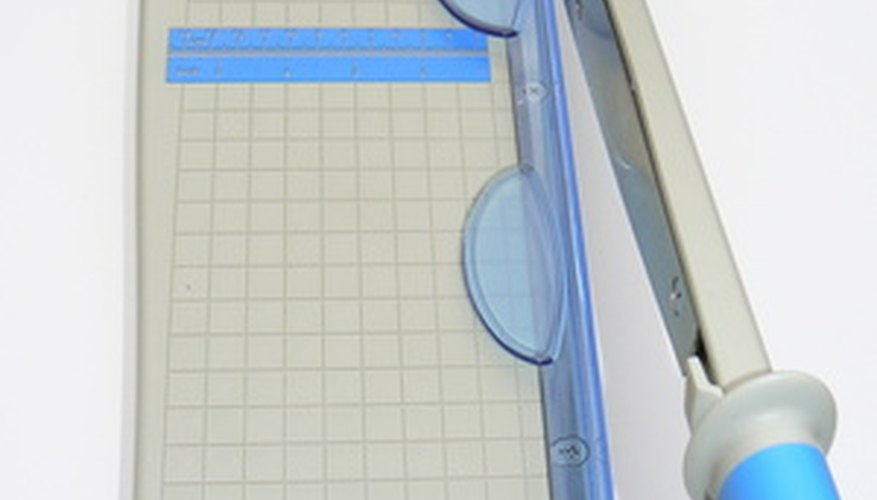 Use a paper cutter to get straight edges.