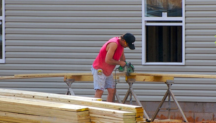 For a large job such as installing siding, use a power sander.
