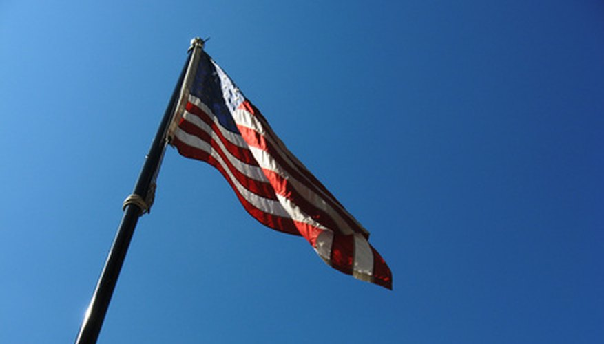Flagpoles are constructed of either fiberglass or metal.