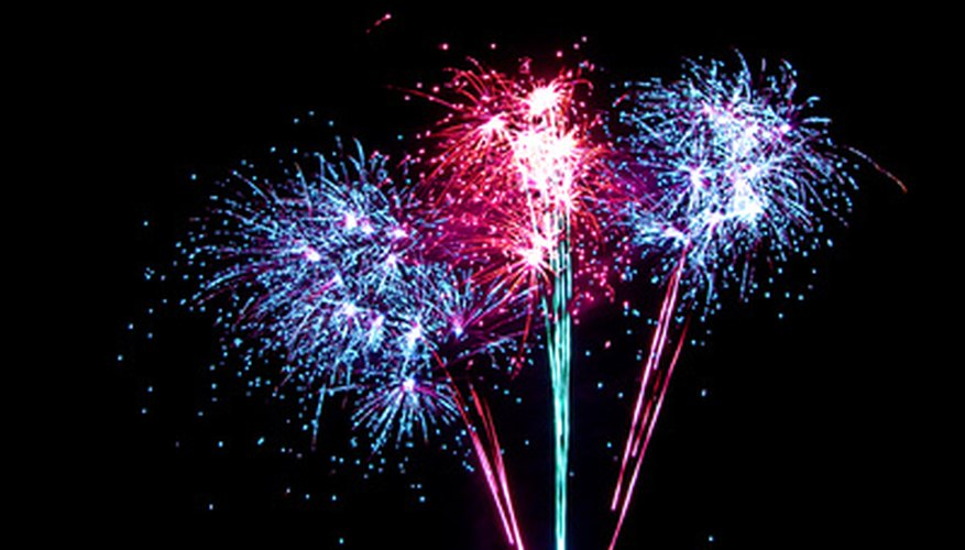 The color of fireworks depends on their constituent elements.