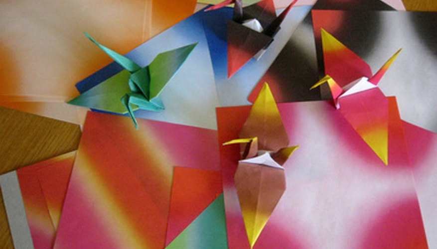 Origami cranes can make a soothing or inspiring mobile.