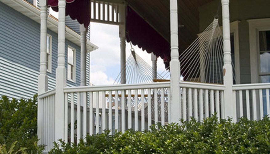Part of an existing deck can be easily enclosed for a screen porch.