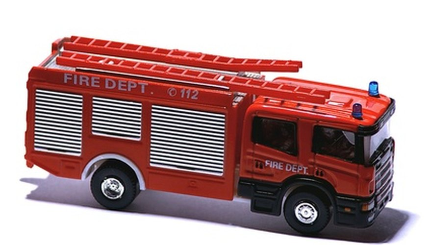 A handmade fire engine will become a special toy for your child.