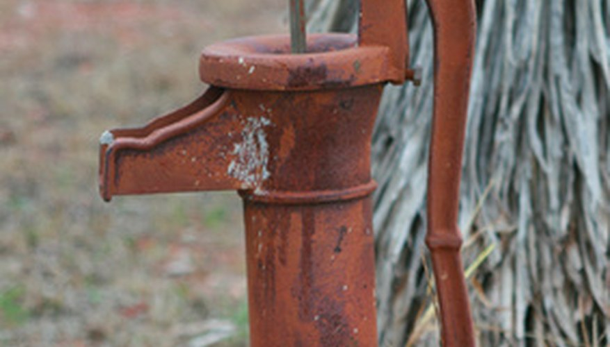 Like antique hand pumps, modern pumps also require priming.